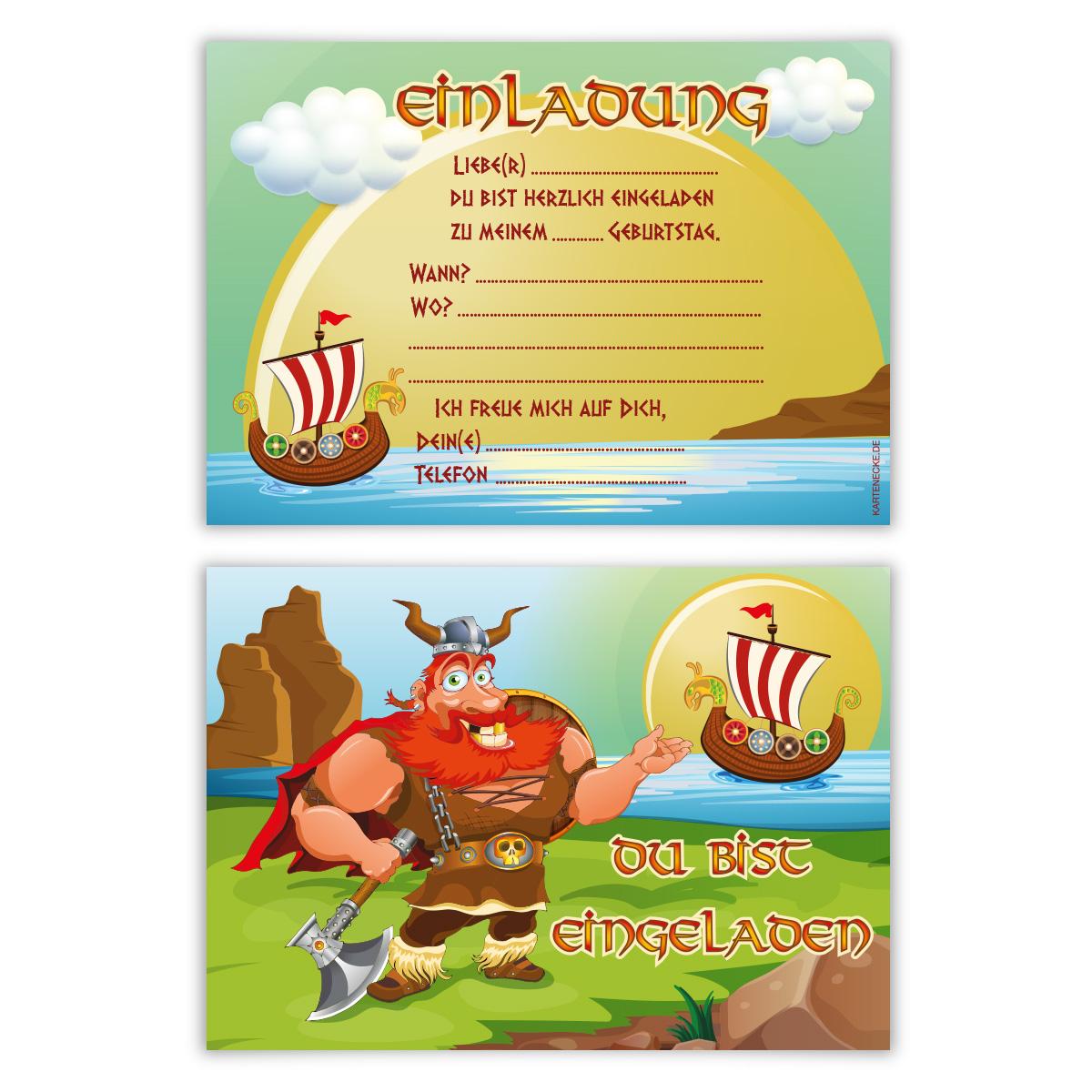 einladungskarten (8 stück) zum selbst ausfüllen kinder
