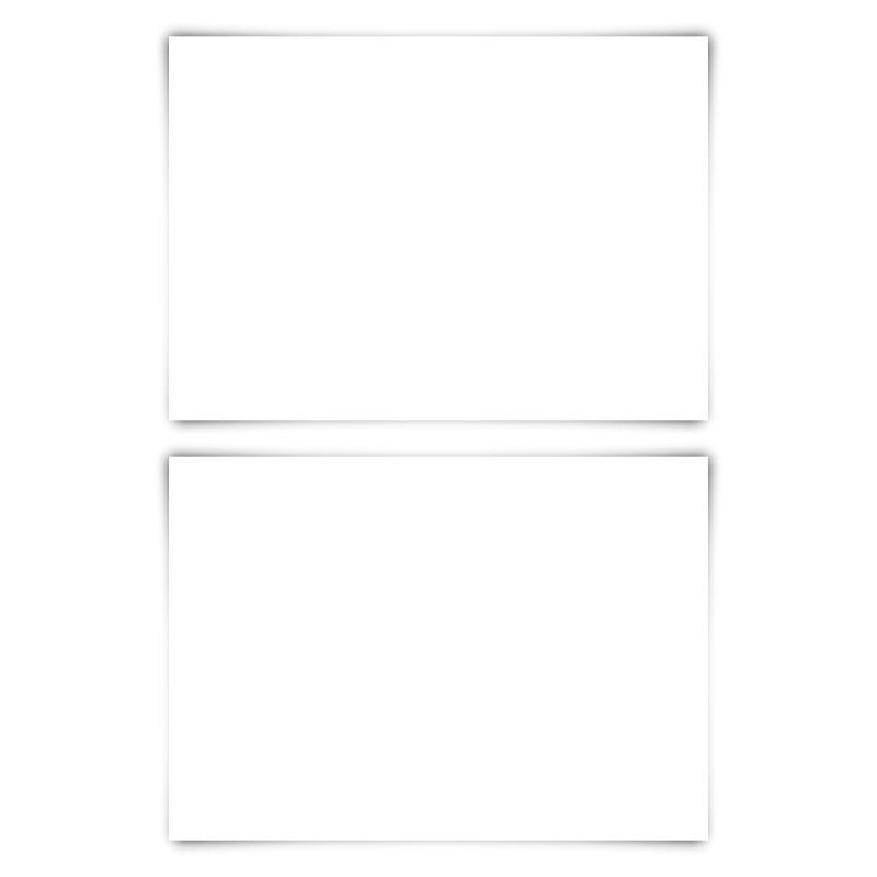 100 x Blanko Karten DIN A6 148 x 105 mm Bilderdruckpapier matt 300 g/qm