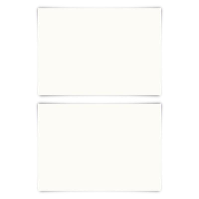 50 x Blanko Karten DIN A6 148 x 105 mm Naturpapier 300 g/qm