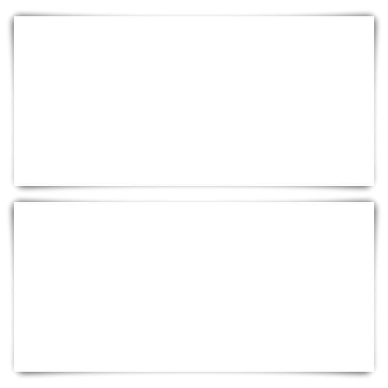 200 x Blanko Karten DIN Lang 210 x 99 mm Bilderdruckpapier matt 300 g/qm