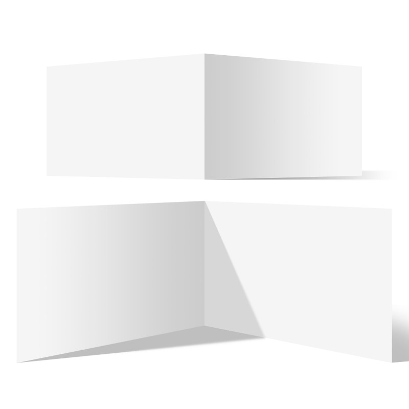 100 x Blanko Klappkarten im Format DIN A6 (Falz kurze Seite)