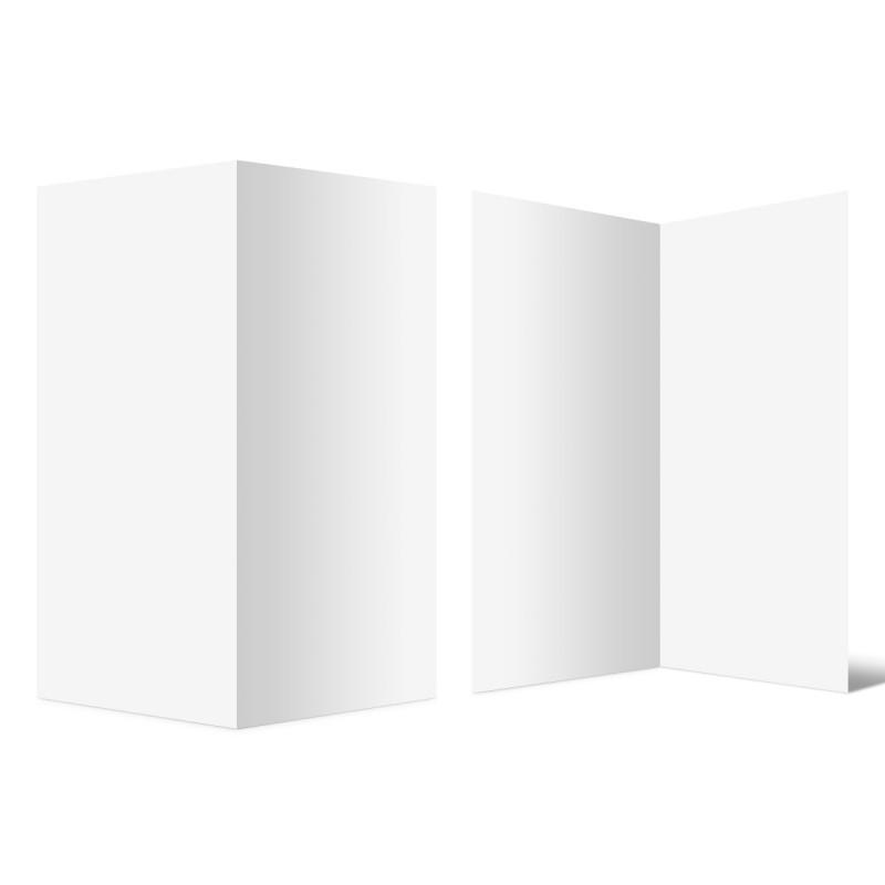 100 x Blanko Klappkarten hoch DIN Lang 210 x 99 mm Bilderdruckpapier 300 g/qm