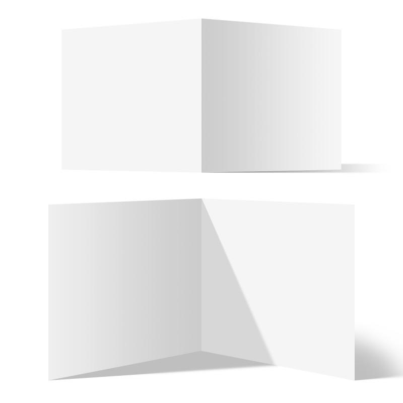200 x Blanko Klappkarten Format Quadrat 148 x 148 mm