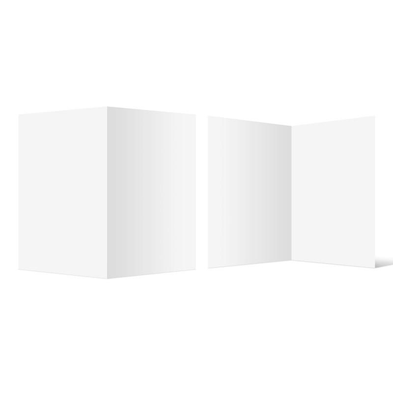 100 x Blanko Klappkarten im Format DIN A6 (Falz lange Seite)
