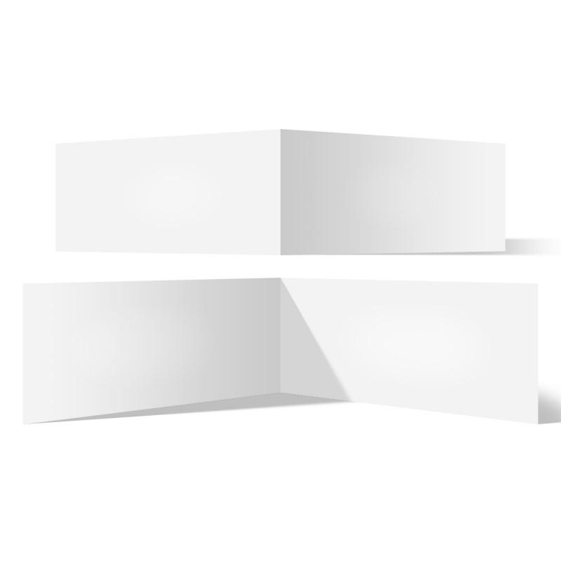 200 x Blanko Klappkarten quer DIN Lang 210 x 99 mm Bilderdruckpapier 300 g/qm