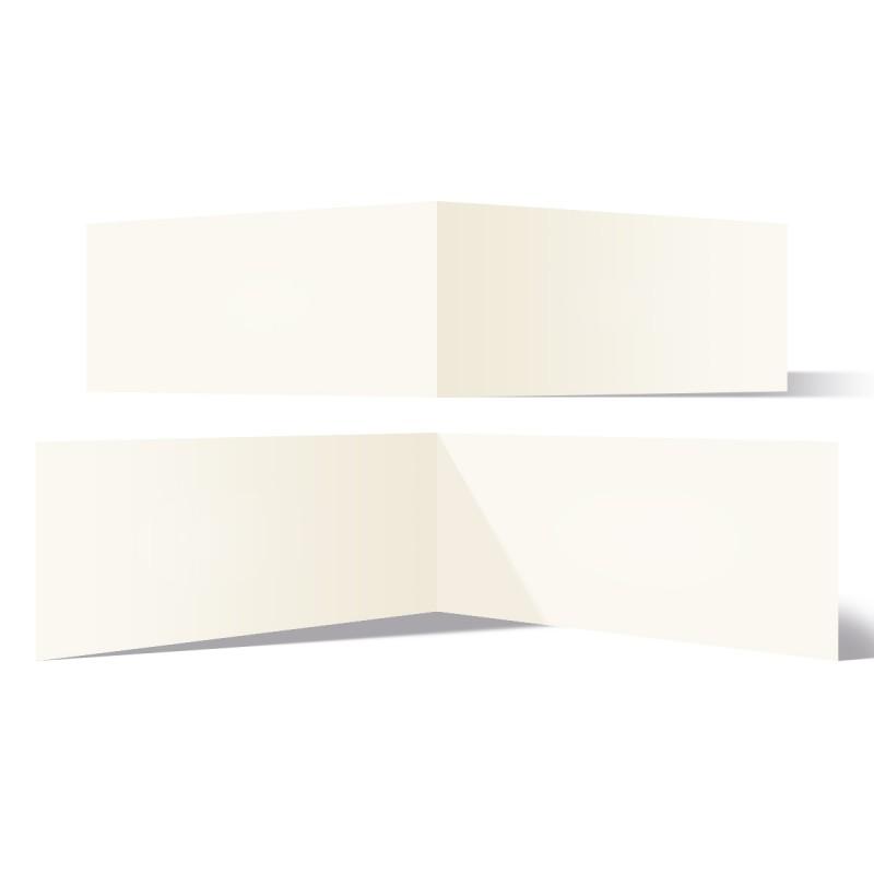 50 x Blanko Klappkarten quer DIN Lang 210 x 99 mm Naturpapier 300 g/qm