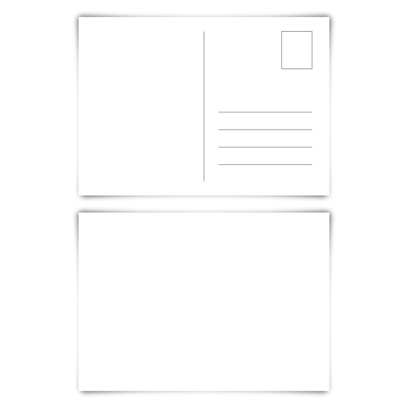 50 x Blanko Postkarten im Format DIN A6