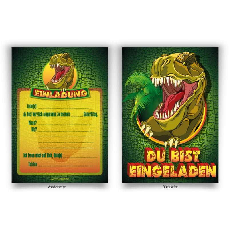"""Einladungen zum Kindergeburtstag """"Dinosaurier"""""""