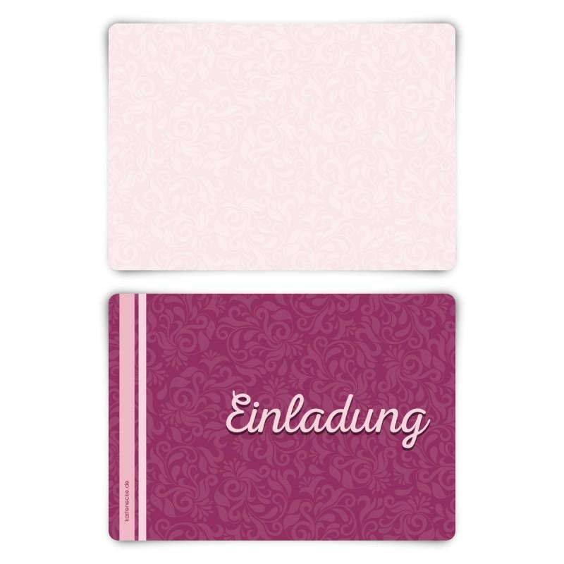 """Einladungskarten (12 Stück) """"Friedenstaube"""" Blanko Rückseite"""