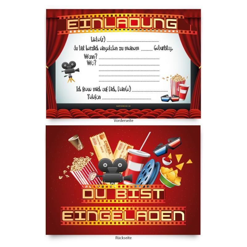 """Einladungskarten zum Geburtstag """"Kino Film"""""""