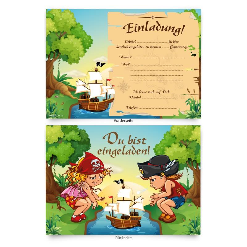 """""""piraten"""" kindergeburtstag einladungskarten online"""