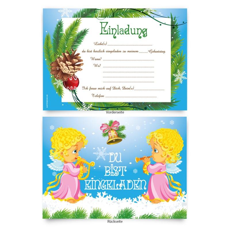 """Einladungskarten (8 Stück) """"Engel"""""""