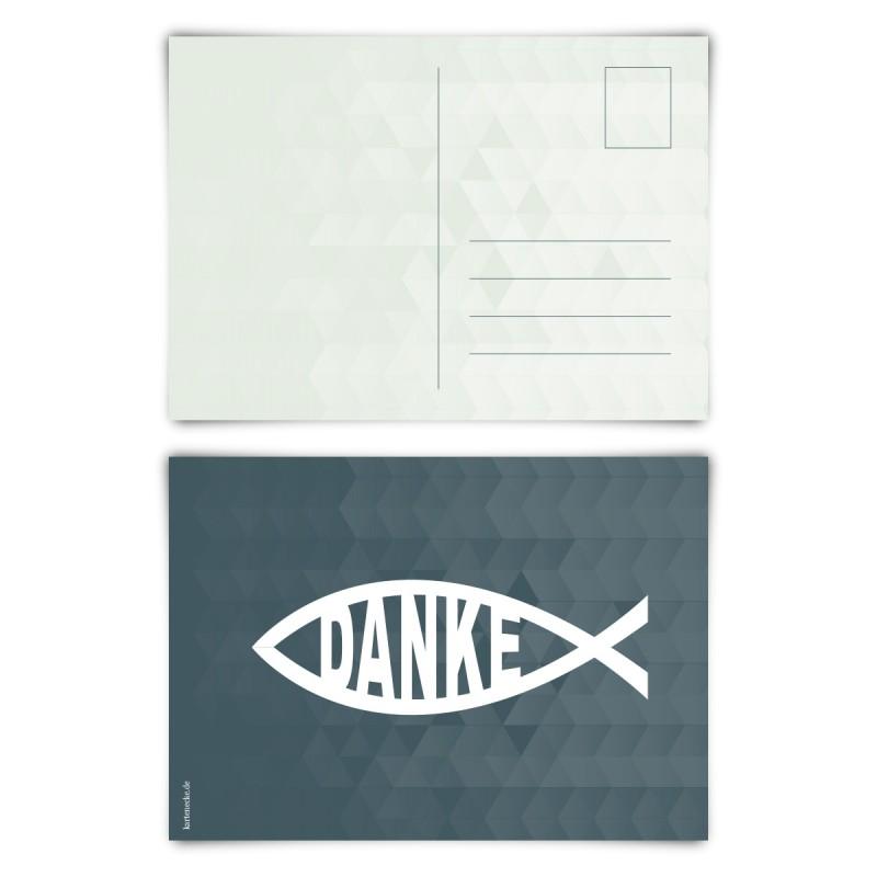 """Trauerkarten (12 Stück) """"Jesus Fisch"""" Postkarten"""