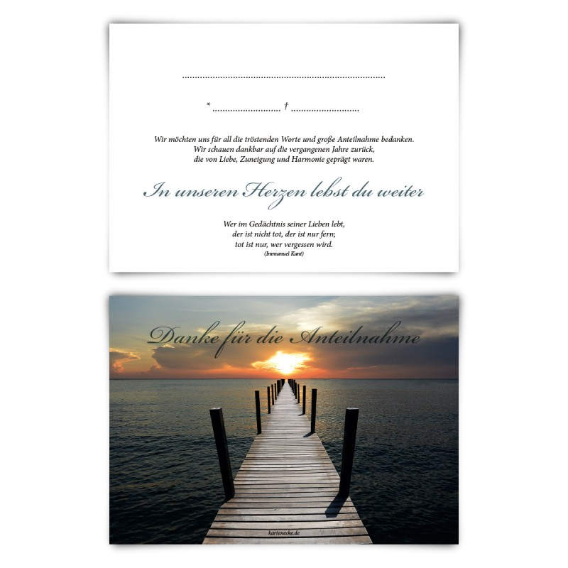 """Trauerkarten (12 Stück) """"Trauerblumen"""" Vorausgefüllt"""