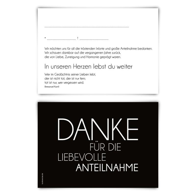 """Trauerkarten (12 Stück) """"Schlicht"""" Vorausgefüllt"""