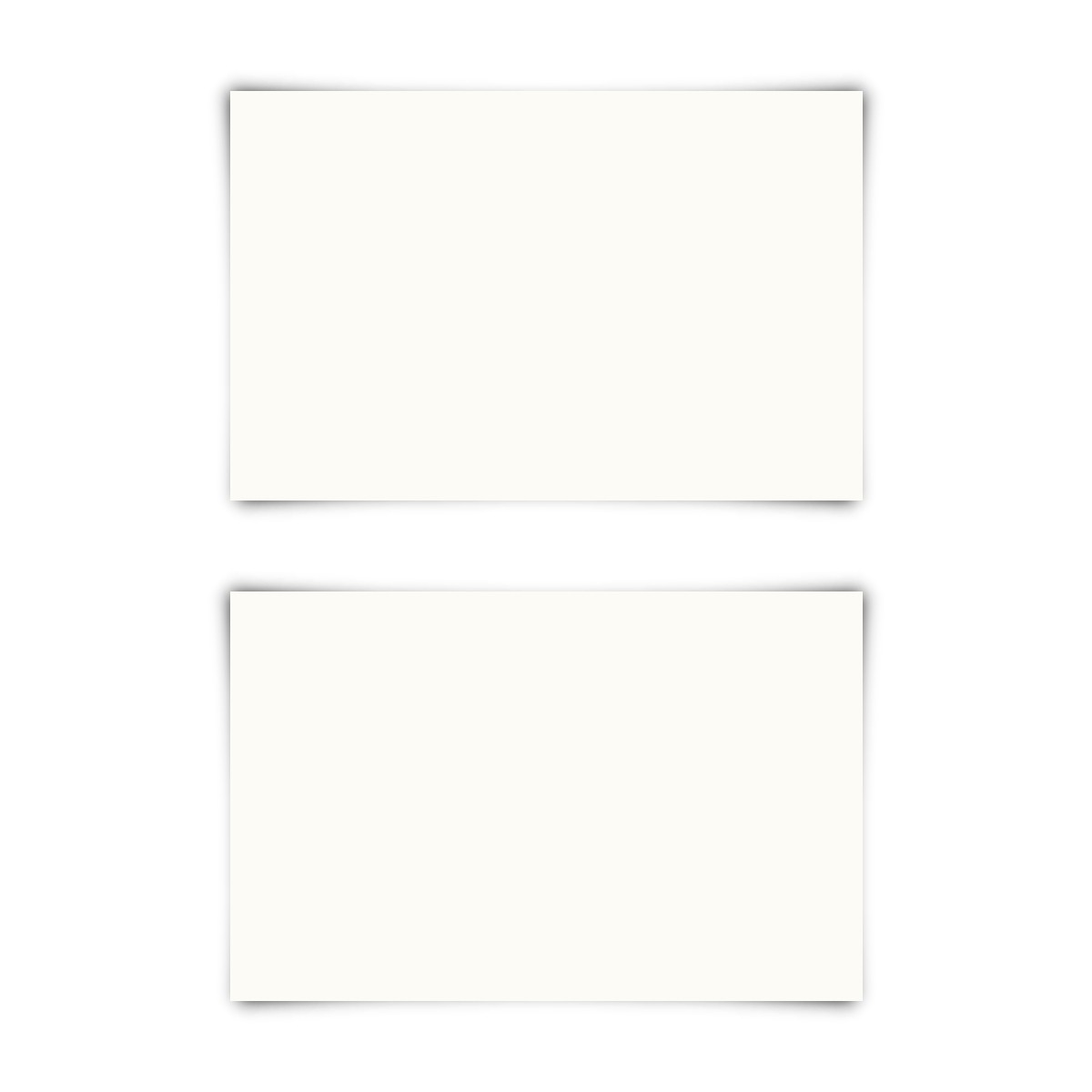 50 X Blanko Visitenkarten 85x55mm Naturpapier 300g Qm