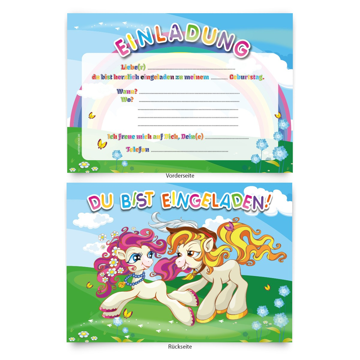 """""""pony"""" einladungen zum geburtstag online bestellen"""