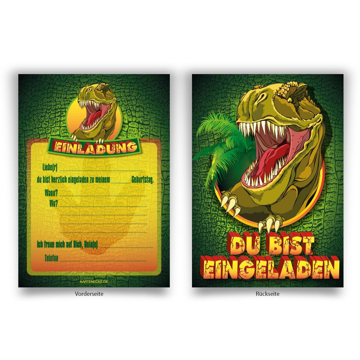 """""""Dinosaurier"""" Einladungen zum Geburtstag online bestellen ..."""