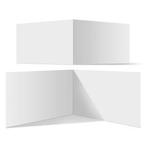 25 x Blanko Klappkarten im Format DIN A6 (Falz kurze Seite)