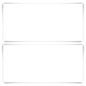 25 x Blanko Karten DIN Lang 210 x 99 mm Bilderdruckpapier matt 300 g/qm