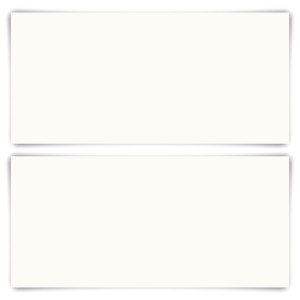 200 x Blanko Karten DIN Lang 210 x 99 mm Naturpapier 300 g/qm