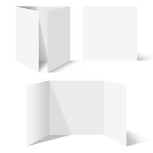25 x Blanko Klappkarten Altarfalz Quadrat 148x148mm Bilderdruckpapier
