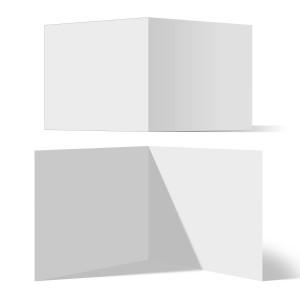 25 x Blanko Klappkarten Format Quadrat 148 x 148 mm