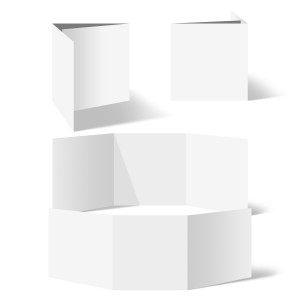 25 x Blanko Klappkarten Wickelfalz Quadrat 148x148mm Bilderdruckpapier
