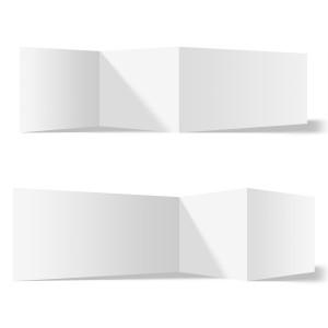 25 x Blanko Klappkarten Zickzackfalz 210x99mm Bilderdruckpapier 300g/qm