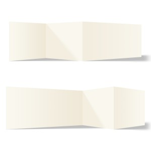 25 x Blanko Klappkarten Zickzackfalz 210x99mm Naturpapier 300g/qm