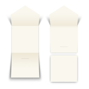 100 x Blanko Steckverschluss Klappkarte Quadrat Naturpapier 300g/qm