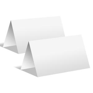 100 x Blanko Faltkarten im Tischkarten Format