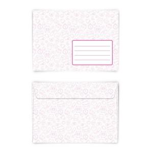 Briefumschläge Kuverts Mädchen Rosa Rot