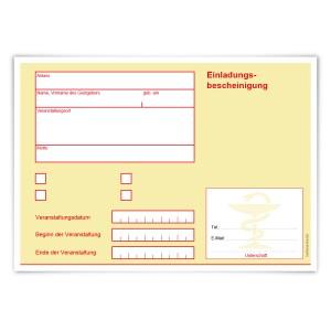 """Einladungskarten Erwachsene (12 Stück) """"Krankschreibung"""""""