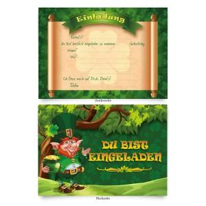 "Einladungskarten (8 Stück) ""Kleeblatt"""