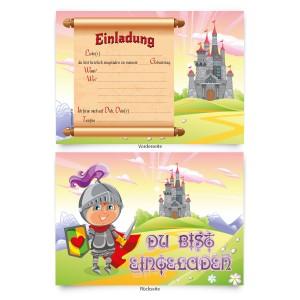 """Einladungskarten (8 Stück) """"Märchenschloss"""""""