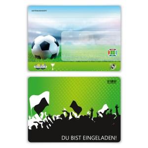"""Einladungskarten zur Einschulung (8 Stück) """"Fußball Ticket"""""""