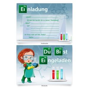 """Einladungskarten """"Chemie"""" zur Einschulung"""
