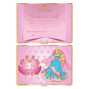 """Geburtstagseinladungen (8 Stück)  für Kinder """"Prinzessin"""""""