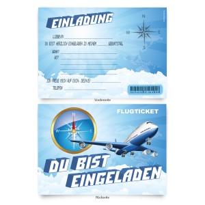 """Geburtstagskarten  zum Einladen """"Flugzeug"""""""