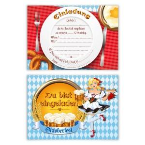 """Kindergeburtstagseinladungen (8 Stück) """"Oktoberfest"""""""