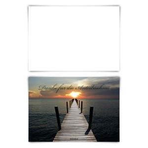 """Trauerkarten (12 Stück) """"Lichtsteg"""" Blanko Rückseite"""