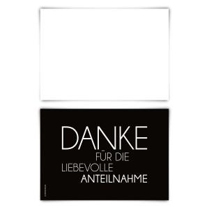 """Trauerkarten (12 Stück) """"Schlicht"""" Blanko Rückseite"""