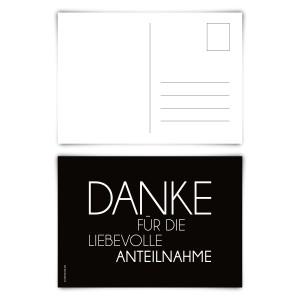 """Trauerkarten (12 Stück) """"Schlicht"""" Postkarten"""