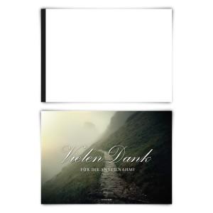 """Trauerkarten (12 Stück) """"Steiniger Weg"""" Blanko Rückseite"""