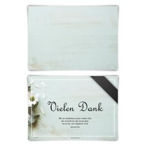 """Trauerkarten (12 Stück) """"Trauerblumen"""" Blanko Rückseite"""