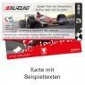 """Geburtsag Einladungskarten (12 Stück) """"Formel Ticket"""" ausgefüllt"""