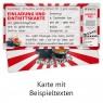 """Geburtsag Einladungskarten (12 Stück) """"Kino Ticket"""" ausgefüllt"""