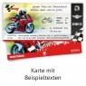 """Geburtsag Einladungskarten (12 Stück) """"Motorrad Ticket"""" mit Stift beschrieben"""