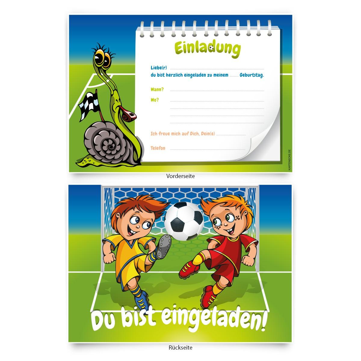 Einladung Kindergeburtstag Fußball Download